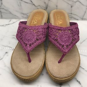 SBICCA made in California lavender crochet sandals
